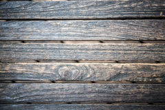 Старая стена сделанная деревянного Стоковая Фотография RF