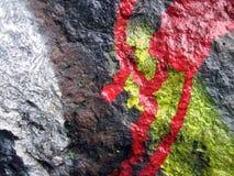 Старая стена с покрашенным конспектом Стоковое фото RF