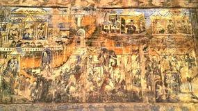 Старая стенная роспись в Lampang, Таиланде Стоковое Изображение