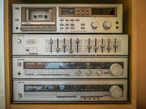Старая стерео звуковая система Стоковые Фотографии RF