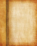 Старая страница тетради grunge Стоковая Фотография RF