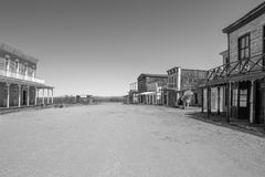 Старая съемочная площадка городка Диких Западов в Аризоне Стоковое Фото