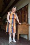 старая сь женщина Стоковые Фото
