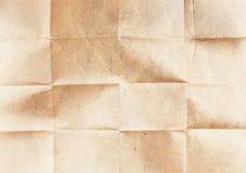 Старая сложенная бумажная текстура Стоковая Фотография RF