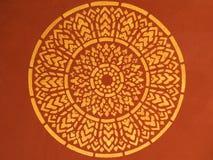 Старая тайская картина на виске потолка Стоковая Фотография RF