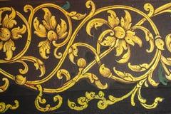 Старая тайская настенная роспись виска Стоковое Фото