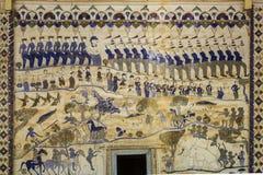 Старая тайская стенная роспись Isan Стоковые Фотографии RF