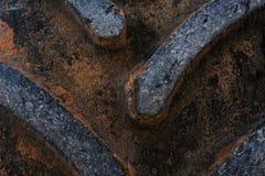 Старая текстура автошины тележки трактора Стоковое Изображение RF