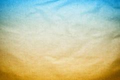 Старая текстура бумаги предпосылки голубого Brown Стоковые Изображения RF