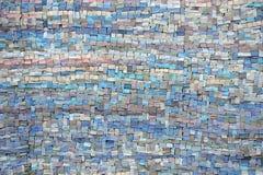 Старая текстура голубых и сирени мозаики Стоковая Фотография RF