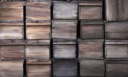 Старая текстура деревянных клетей Стоковые Фотографии RF