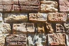 Старая текстура каменной кладки Стоковая Фотография