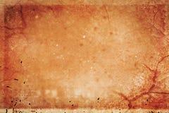 Старая текстура коричневой бумаги Стоковая Фотография