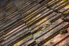 Старая текстура крыши плитки Стоковые Фото