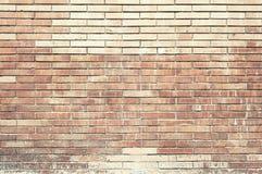 Старая текстура предпосылки стены красного кирпича покрашенная Стоковые Фото