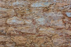 Старая текстура стены утеса самана Стоковые Фото