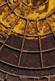 Старая текстура люка -лаза нечистот Стоковое Изображение