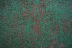 Старая текстура wal треснутое зеленым цветом Стоковое Изображение RF