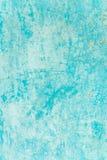 Старая текстурированная голубая стена с пятнами Стоковая Фотография RF