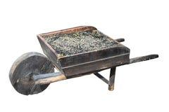 старая тележка деревянная Стоковая Фотография