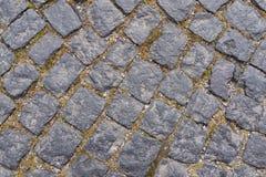 Старая темная картина пола камня гранита как предпосылка в Италии Стоковые Фотографии RF