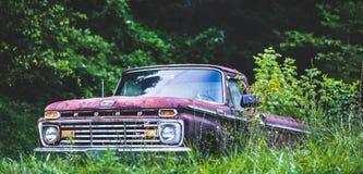 Старая тележка в поле Стоковая Фотография RF