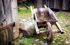 Старая тележка сена Стоковые Фото