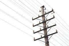 Старая телефонная линия телеграфа и Стоковая Фотография RF