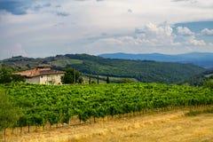 Старая типичная ферма в зоне Тоскане Chianti Стоковые Изображения RF
