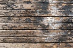 Старая треснутая краска на досках Стоковая Фотография