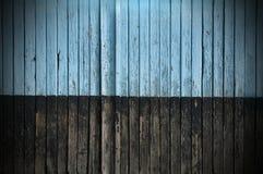 Старая треснутая краска на досках Стоковые Фото