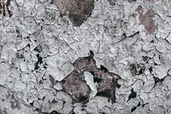 Старая треснутая краска на стене Стоковые Изображения