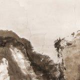 Старая треснутая предпосылка текстуры бетонной стены краски Стоковое Фото