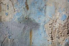 Старая треснутая текстура бетонной стены краски Стоковые Фото