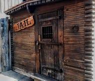 Старая тюремная камера в город-привидении ситца стоковое фото rf