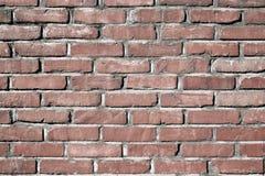 Старая увяданная красная предпосылка кирпичной стены Стоковая Фотография