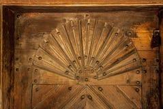 Старая украинская дверь осенью Стоковые Фотографии RF