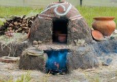 Старая украинская печь гончарни Стоковое Изображение RF