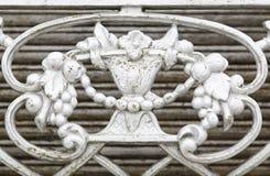 Старая украшенная решетка стоковое фото