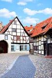 Старая улица в Германии Стоковое Изображение RF