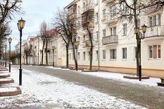 Старая улица в европейском городке Стоковое Фото
