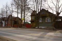 Старая улица в Kimry Стоковое Изображение