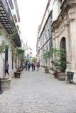 Старая улица Гаваны в Кубе Стоковое Фото