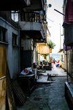 Старая улица городка лета Стоковое Фото