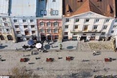 Старая улица городка Стоковые Фотографии RF