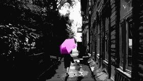 старая улица Стоковые Изображения