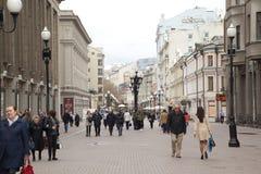 Старая улица Arbat в Москве, России Стоковая Фотография RF