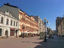 Старая улица Arbat, Москва Стоковые Фото