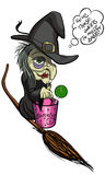 Старая уродская ведьма хеллоуина Стоковые Фотографии RF