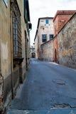 Старая улица в городе Лукки Стоковое Изображение RF